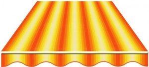 770/55 120 СМ Мультиполоса Желто-оранжевая